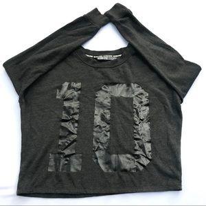 VS Victoria's Secret Sport Gray Black Sweat Shirt